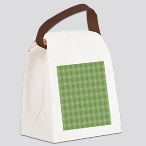 green dog paws Canvas Lunch Bag