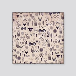 """Hipster Square Sticker 3"""" x 3"""""""