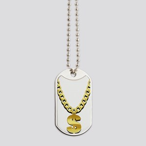 Gold Chain Dog Tags