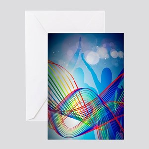Zumba sign-in book front cover Greeting Card