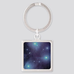 Pleiades Square Keychain
