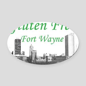 Gluten Free Fort Wayne Oval Car Magnet