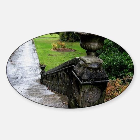 Ashford Castle Gardens, Galway, Ire Sticker (Oval)