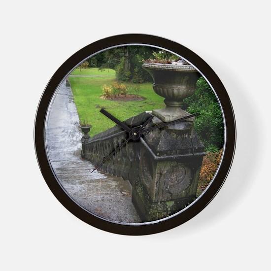 Ashford Castle Gardens, Galway, Ireland Wall Clock