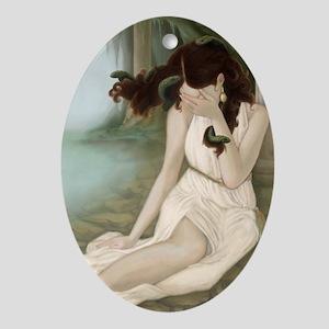 Medusa II Oval Ornament