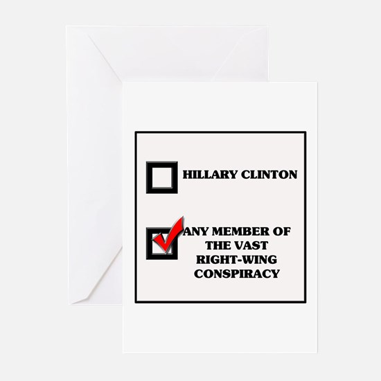 Hillary Clinton VRWC Greeting Cards (Pk of 10)