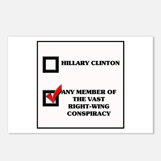 Hillary Clinton VRWC Postcards (Package of 8)