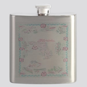 Vintage Florida Map Tablecloth Flask