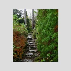 Garden Path at Muckross House, Killa Throw Blanket