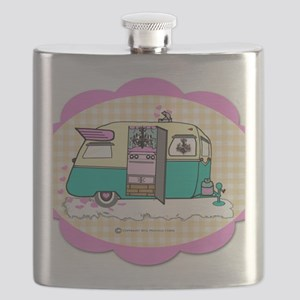 lil vintage trailer Flask