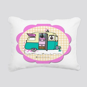 lil vintage trailer Rectangular Canvas Pillow