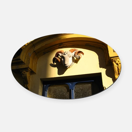 Rams Head of Kinsale, Ireland Oval Car Magnet