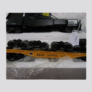 Black Train Pieces Throw Blanket