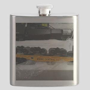 Black Train Pieces Flask