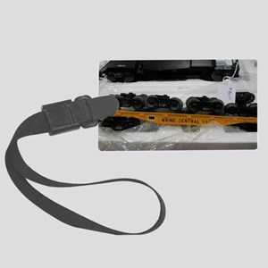 Black Train Pieces Large Luggage Tag