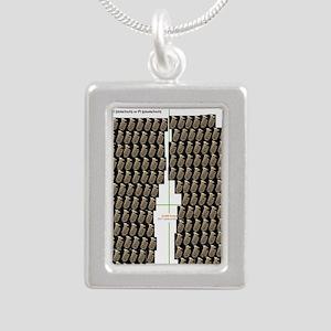 Tuba Flip Flop Silver Portrait Necklace