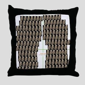 Tuba Flip Flop Throw Pillow