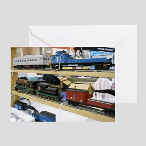Pieces Of Train Sets Greeting Card