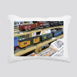 Adding Trains Rectangular Canvas Pillow
