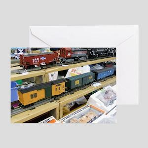 Adding Trains Greeting Card