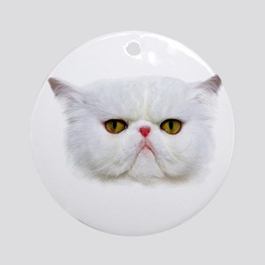 Gumpy Cat Round Ornament