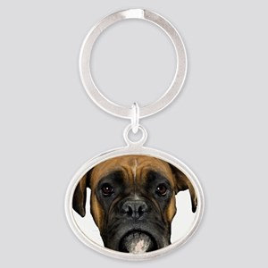 Boxer Oval Keychain