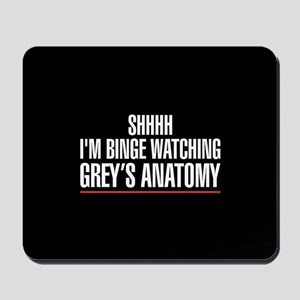 Grey's Anatomy Binge Watching Mousepad