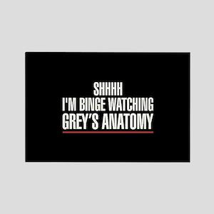 Grey's Anatomy Binge Watching Rectangle Magnet