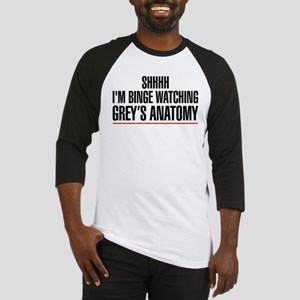 Grey's Anatomy Binge Watching Baseball Tee