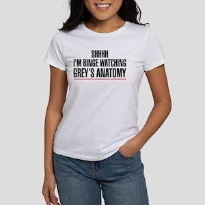 Grey's Anatomy Binge Women's Classic White T-Shirt