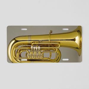 tuba-5 Aluminum License Plate
