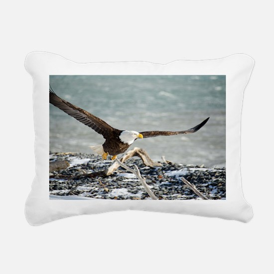 Magnificent Bald Eagle Rectangular Canvas Pillow