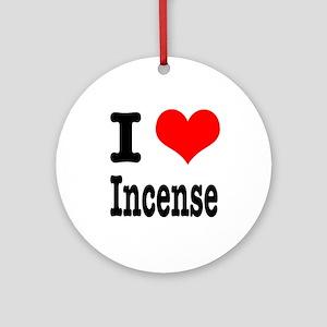I Heart (Love) Incense Ornament (Round)