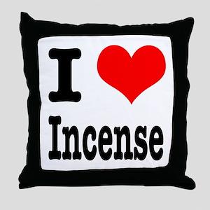 I Heart (Love) Incense Throw Pillow