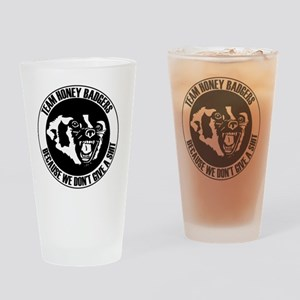 Team Honey Badgers Round Drinking Glass