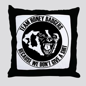 Team Honey Badgers Round Throw Pillow