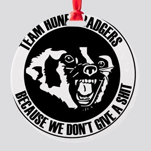 Team Honey Badgers Round Round Ornament