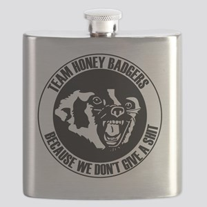 Team Honey Badgers Round Flask