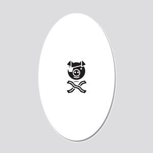The Bacon Pirate 20x12 Oval Wall Decal