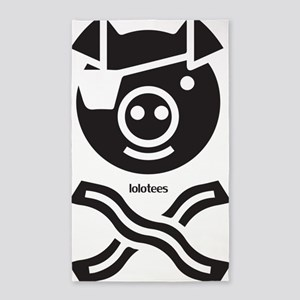 The Bacon Pirate 3'x5' Area Rug