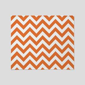 Pumpkin chevron stripes Throw Blanket