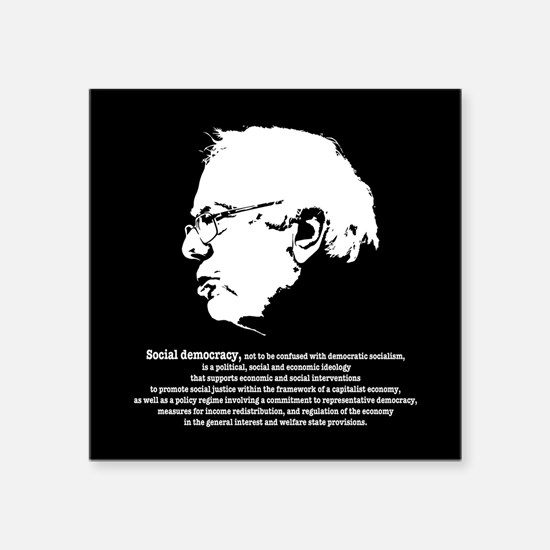 "Bernie Stark Square Sticker 3"" x 3"""