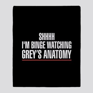 Grey's Anatomy Binge Watching Throw Blanket