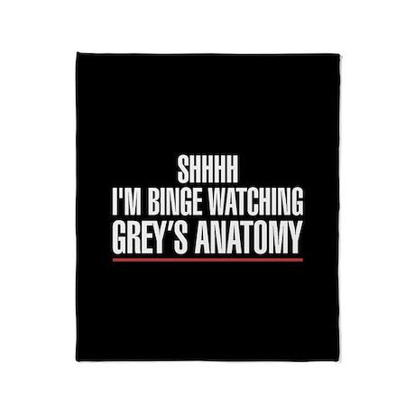 Grey's Anatomy Binge Watching Throw Blanket