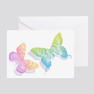 colorful abstract butterflies with s Greeting Card