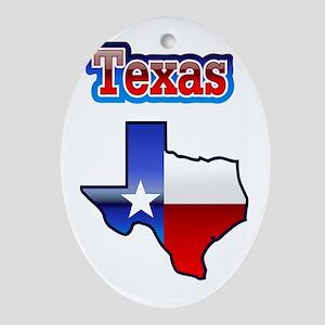 Texas Oval Ornament