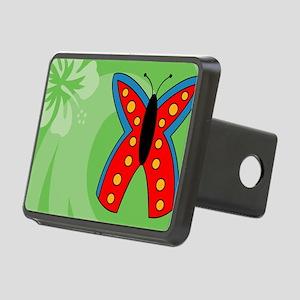 Butterfly Tea Recipe Box Rectangular Hitch Cover