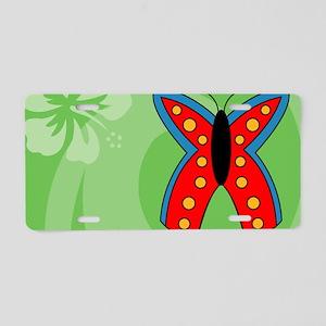 Butterfly Tea Recipe Box Aluminum License Plate
