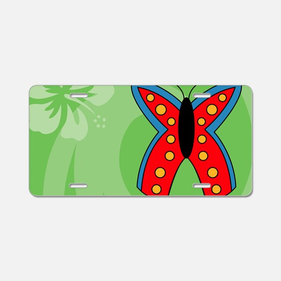 Butterfly Tea Recipe Box Aluminum License Plate