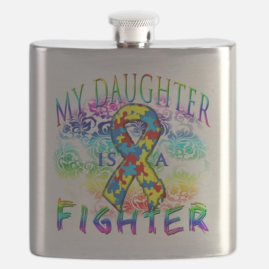 My Daughter Is A Fighter Flask